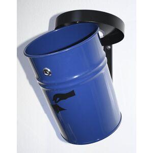 Wandabfallbehälter, abschließbar Volumen 16 l, HxØ 340 x 245 mm blau