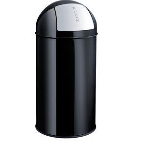 helit Push-Abfallbehälter aus Stahl Volumen 50 l, HxØ 745 x 360 mm schwarz
