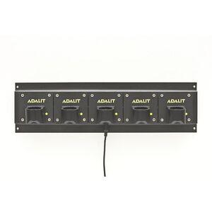 Ladegerät für ADALIT®-Handleuchten für Lithium-Polymer-Akku für 5 LED-Sicherheitsleuchten