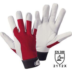 Montagehandschuhe weiß / rot, VE 10 Paar Größe 10 (XL)