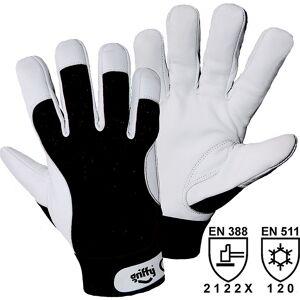 Winter-Montagehandschuhe weiß / schwarz, VE 10 Paar Größe 7 (S)