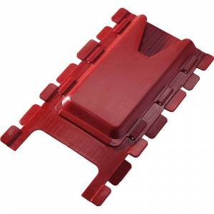 Kartentasche aus Polypropylen rot