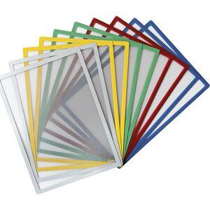 Einstecktasche, magnetisch für Papierformat DIN A4, VE 10 Stk farbgemischt