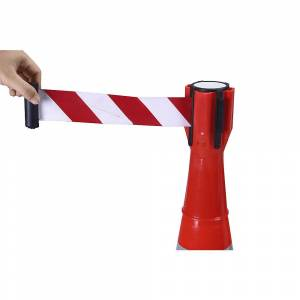 Aufsteck-Gurtabsperrung Bandauszug 3 m, ab 5 Stück rot / weiß
