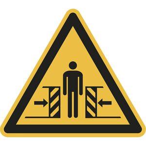 Warnkennzeichen Warnung vor Quetschgefahr, VE 10 Stk Kunststoff, Schenkellänge 200 mm