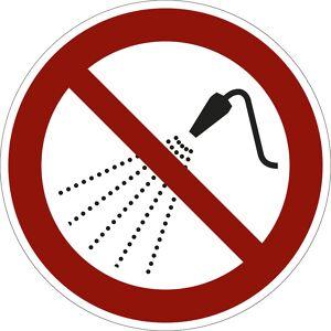 Verbotszeichen Mit Wasser spritzen verboten, VE 10 Stk Folie, Ø 100 mm