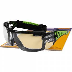 Green Vision Schutzbrille UV-Schutz, mit Kopfband klare Scheibe