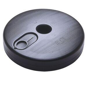 Kettenständer-Set runder Kunststofffuß, befüllbar 6 Pfosten, 10 m Kette, rot / weiß