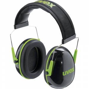 Uvex Kapselgehörschutz K1 mit Bügel, SNR 28 dB schwarz/grün, ab 10 Stk