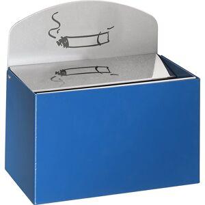 VAR Wandascher mit Hinweisschild Stahlblech, HxBxT 87 x 140 x 98 mm enzianblau