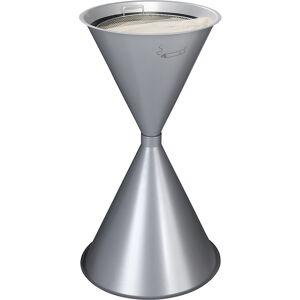 VAR Kegel-Standascher, 2-teilig Stahlblech, pulverbeschichtet silber