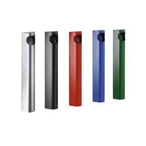 VAR Wandascher, Stahlblech verzinkt und pulverbeschichtet HxBxT 550 x 110 x 74 mm enzianblau