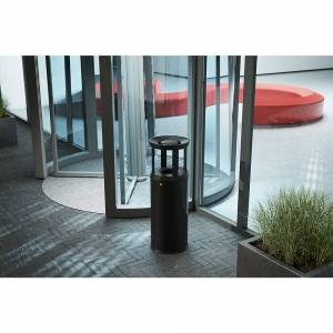 Hailo Sicherheits-Kombiascher ProfiLine Safe Plus XL Volumen 45 l, HxØ 920 x 330 mm graphitschwarz