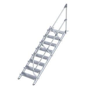 Guenzburger Industrie-Treppe Alustufen, Stufenbreite 800 mm 8 Stufen