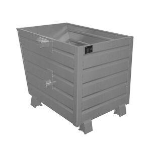 Stapel-Kippbehälter Volumen 0,7 m³ grau RAL 7005
