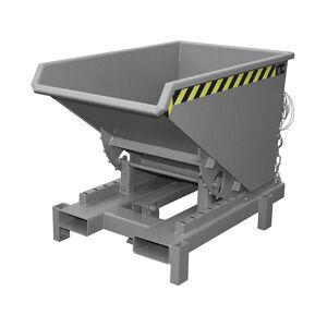 Schwerlast-Kippbehälter Volumen 0,6 m³, Traglast 4000 kg grau RAL 7005