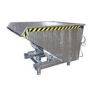 Schwerlast-Kippbehälter Volumen 1,7 m³, Traglast 4000 kg feuerverzinkt nach EN ISO 1461