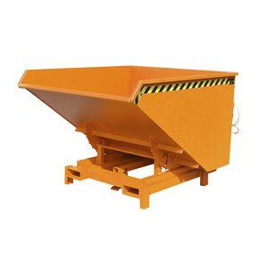 Schwerlast-Kippbehälter Volumen 1,7 m³, Traglast 4000 kg orange RAL 2000