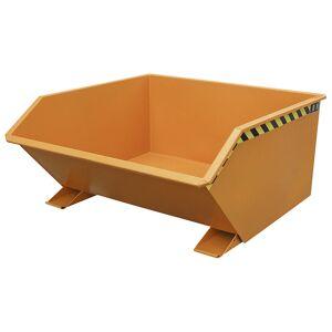 Kippbehälter, niedrige Bauform Volumen 0,75 m³ lackiert orange RAL 2000