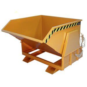 Kippbehälter, Standard-Bauhöhe, ohne Fahrwerk Volumen 0,8 m³ lackiert orange RAL 2000