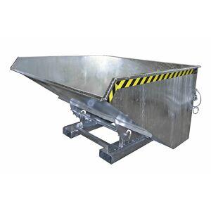Kippbehälter mit Abrollmechanismus Volumen 2,1 m³, LxBxH 1720 x 1870 x 1103 mm feuerverzinkt nach EN ISO 1461