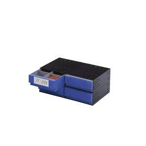 Kombi-Schubladensystem aus Polystyrol mit 4 Schubladen 225 mm blau