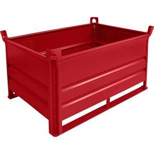 Heson Stapelbehälter mit Kufen, Traglast 500 kg LxB 1200 x 800 mm rot, ab 1 Stk