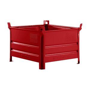 Heson Vollwand-Stapelbehälter, BxL 800 x 1000 mm Füllhöhe 500 mm, Traglast 1000 kg rot, ab 10 Stk