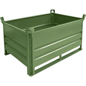 Heson Stapelbehälter mit Kufen, Traglast 2000 kg LxB 1200 x 800 mm grün, ab 5 Stk