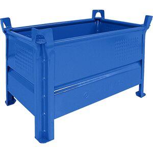 Heson Vollwand-Stapelbehälter, BxL 500 x 800 mm Füllhöhe 400 mm, Traglast 1000 kg blau, ab 5 Stk