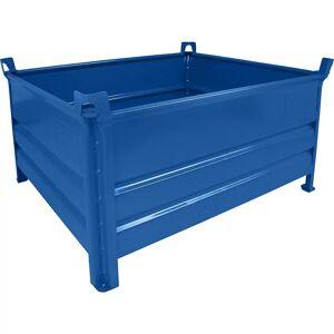 Heson Vollwand-Stapelbehälter, BxL 1000 x 1200 mm Füllhöhe 500 mm, Traglast 500 kg blau, ab 1 Stk