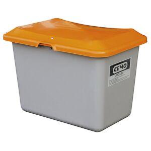 CEMO Streugutbehälter aus GfK Volumen 200 l, ohne Entnahmeöffnung Behälter grau
