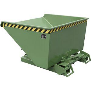 Kippbehälter automatisch Volumen 1,2 m³ grün RAL 6011