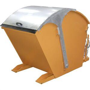 Kippbehälter mit Runddeckel Volumen 1 m³ gelborange, ab 2 Stk