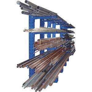 EUROKRAFTpro Kragarmregal, Bauart schwer Ständerhöhe 2500 mm Grundregal, einseitig, Feldlast 3460 kg, resedagrün RAL 6011