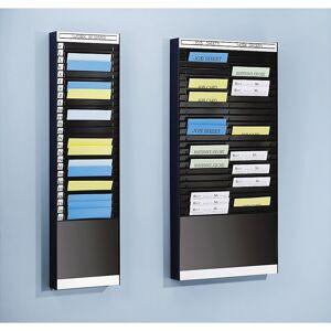Dokumentensortiertafel 2 x 16 Fächer, DIN A5, Dokumentenlage vertikal schwarz, matt