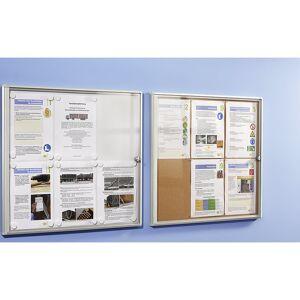 office akktiv Info-Schaukasten für innen Metallrückwand 2 DIN A4-Blätter, HxB 350 x 491 mm, ab 5 Stk