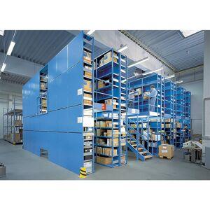 LISTA Basis-Steckregal Regalhöhe 2000 mm, Boden-BxT 1000 x 500 mm Anbauregal, lichtblau