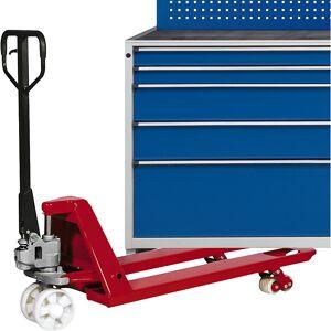 ANKE Schubladenschrank BxT 760 x 675 mm, Schubladentraglast 200 kg 5 Schubladen, Höhe 980 mm, Front enzianblau