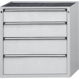 ANKE Schubladenschrank BxT 1060 x 675 mm 4 Schubladen, Höhe 980 mm, Front lichtgrau