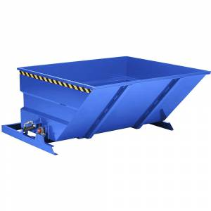 Großraumkippbehälter Volumen 5 m³ enzianblau RAL 5010