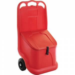QUIPO Universalwagen ideal für Schüttgut, Inhalt 75 l rot