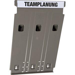 Wandsortierer FLAT für Format DIN A4, Füllhöhe 9 mm Grundmodul grau