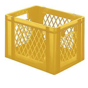 Euro-Format-Stapelbehälter, Wände durchbrochen, Boden geschlossen LxBxH 400 x 300 x 266 mm gelb, VE 5 Stk