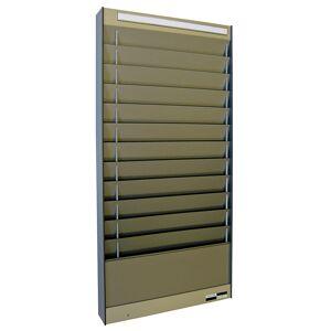 Dokumentensortiertafel 1 x 12 Fächer, DIN A4, Dokumentenlage horizontal alusilber