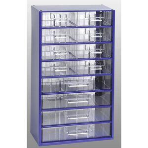 Schubladenmagazin, HxBxT 551 x 306 x 155 mm 12 Schubladen Polystyrol ultramarinblau