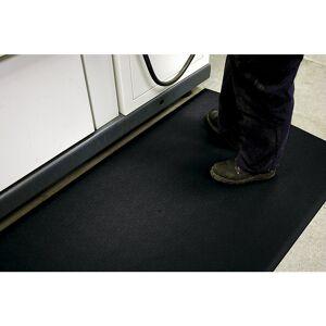 Anti-Ermüdungsmatte PVC mit Hammerschlagoptik, Höhe 9 mm 600 x 900 mm, schwarz