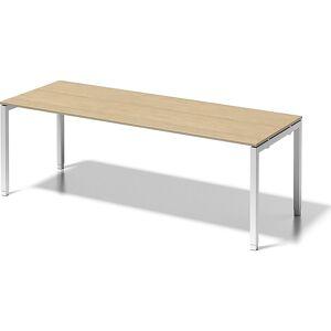 BISLEY Schreibtisch CITO, U-Gestell HxBxT 650 - 850 x 2200 x 800 mm Gestell weiß, Platte Ahorn