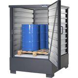 EUROKRAFT Gefahrstoff-Depot SolidMaxx-Depot Typ C 1.1 für 4 x 200-l-Fässer
