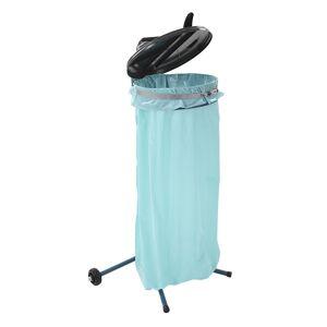 Müllsackständer für Volumen 70 l, mobil blau